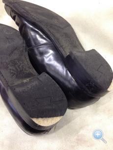 紳士靴ヒール交換