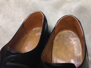 紳士靴のカカト修理