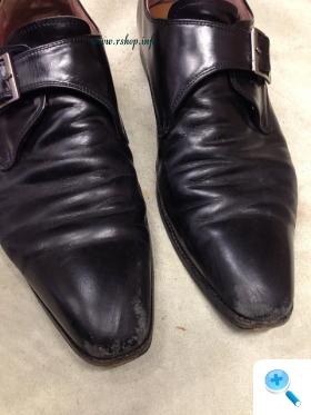 黒の皮靴お手入れ