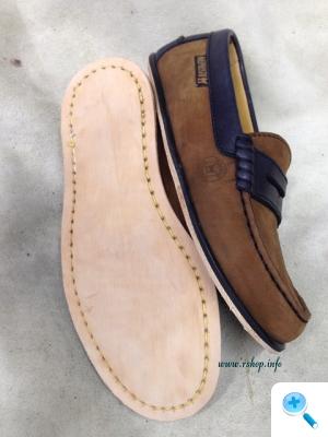 婦人靴のオールソール交換修理