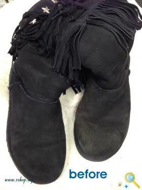 スエード靴のお手入れ(洗濯)