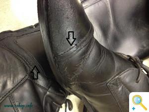 乗馬ブーツの修理