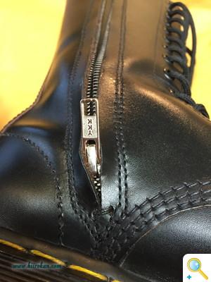 ブーツにファスナーを付ける