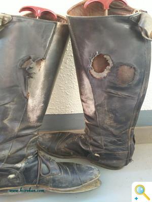 乗馬ブーツの修理again!
