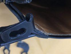 乗馬ブーツの革あて修理(穴あき修理)、デニーロブーツのパーツ製作