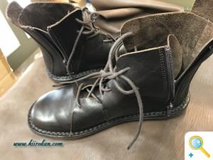 ブーツにファスナーを取り付けてカスタム