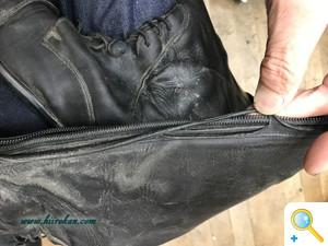 画像で見る乗馬ブーツ修理(ファスナー交換~ソール交換修理編)
