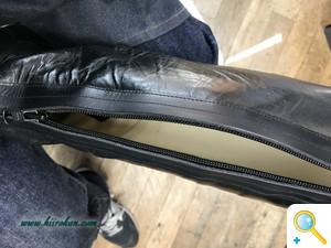 画像で見る乗馬ブーツ再生への道 Part.2(筒と甲の革あて編)