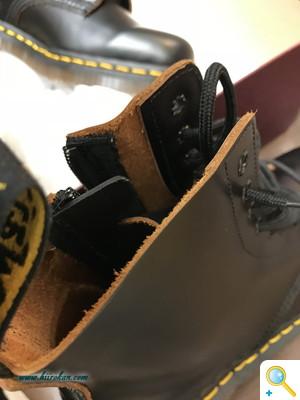 Dr.マーチンなど ブーツのファスナー取り付けページ