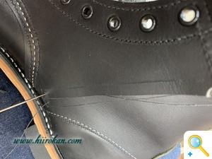 レッドウィングのブーツ ファスナーを取付(エクセラ仕様など)