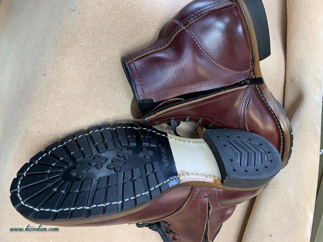 Red Wingとchippewa ブーツ エンジニアなどのファスナー取付&ソール交換