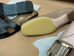 高級婦人靴に必須のハーフラバーソール修理