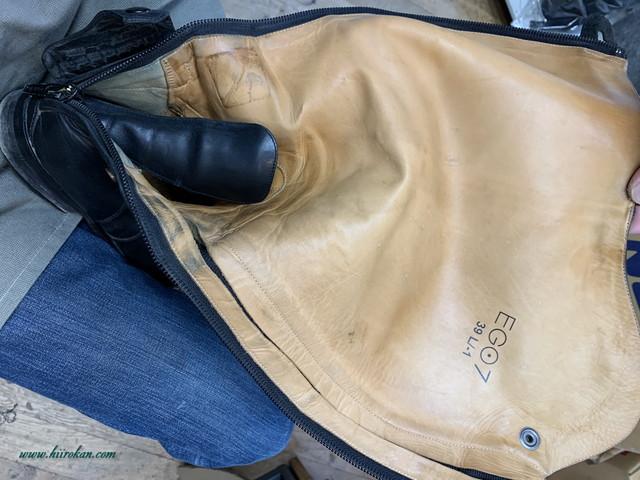 フセブーツ(ツシマブーツファクトリー)とEGO7のファスナー交換修理